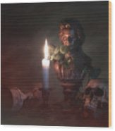 Beethoven By Candlelight Wood Print