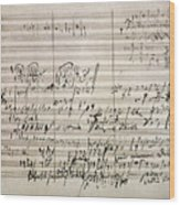 Beethoven Manuscript Wood Print
