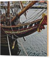 Before Setting Sail Wood Print by Douglas Barnard