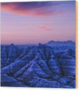 Before Sunrise, Badlands National Park Wood Print