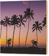 Before Sunrise In Kauai Wood Print