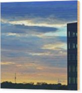Before Sunset Color  Wood Print