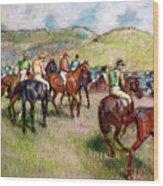 Before The Race Wood Print by Edgar Degas