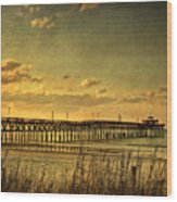Behind Cherry Grove Pier  Wood Print