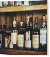 Behind The Bar Wood Print by Cathie Tyler
