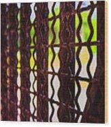 Behind The Bars Wood Print