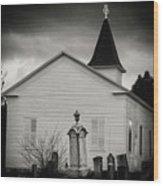 Behind The Church Wood Print