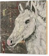 Behold A White Horse Wood Print