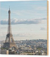Paris Roofs And Tower Wood Print