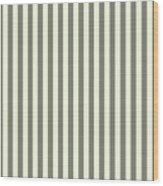 Beige White Striped Pattern Design Wood Print