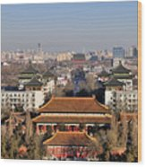 Beijing Central Axis Skyline, China Wood Print
