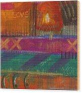 Being In Love Wood Print