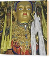 Bejeweled Buddha Wood Print