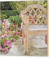 Bel-air Bench Wood Print by David Lloyd Glover