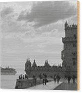 Belem And The Boat Wood Print