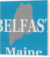 Belfast Maine State City And Town Pride  Wood Print