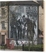 Belfast Mural - Civil Rights Association - Ireland Wood Print