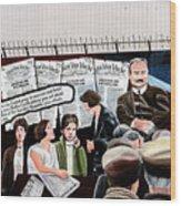 Belfast Mural - Headlines - Ireland Wood Print