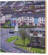 Belfast Mural - Derry Neighborhood - Ireland Wood Print