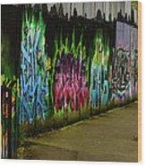 Belfast - Painted Wall - Ireland Wood Print