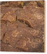 Belfast Petroglyph 6 Wood Print