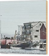 Belfast Tugs 2 Wood Print