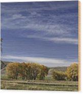 Belfry Fall Landscape 6 Wood Print