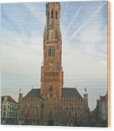 Belfry Of Bruges Wood Print