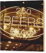 Belgian Beer Sign Wood Print