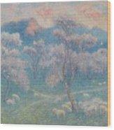 Belgian, Moutons Aux Amandiers  Wood Print