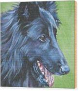 Belgian Sheepdog Wood Print
