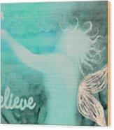 Believe In Fairies Wood Print