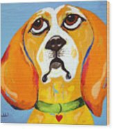 Belinda The Beagle Wood Print