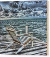 Belize Beach Chair #2 Wood Print