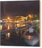 Belizean Night  Wood Print