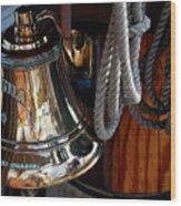Bell On Schooner Virginia Wood Print by Gene Sizemore