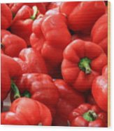 Bell Peppers Red Wood Print