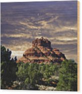 Bell Rock In Hdr Wood Print