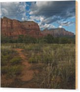 Courthouse Butte Sedona Arizona Wood Print