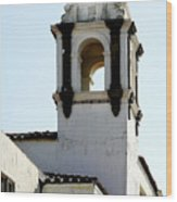 Bell Tower In Santa Cruz Wood Print