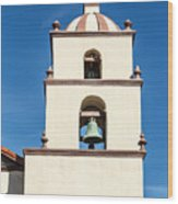 Bell Tower Mission San Buenaventura Wood Print