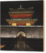 Bell Tower Of Xi'an Wood Print