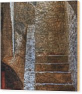 Bell Tower Stairs Wood Print