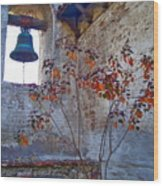 Bell Wall And Eastern Wall Of Serra Chapel In Sacred Garden Mission San Juan Capistrano California Wood Print