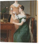 Bella And Hanna. The Eldest Daughters Of M.l. Nathanson Wood Print