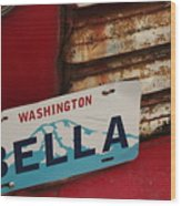 Bella License Plate Wood Print
