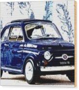 Bella Macchina 8 - Fiat 500 F Wood Print