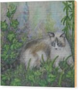 Bella With Ivy And Bamboo Wood Print