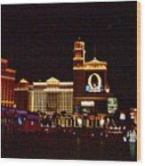 Bellagio And Caesar's Palace In Las Vegas-nevada Wood Print