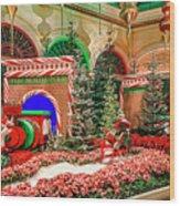 Bellagio Christmas Train Decorations Angled 2017 2 To 1 Aspect Ratio Wood Print